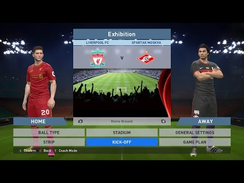Liverpool FC Vs Spartak Moskva, Anfield, PC GAMEPLAY, PCGAMEPLAY, PES 2016, Konami