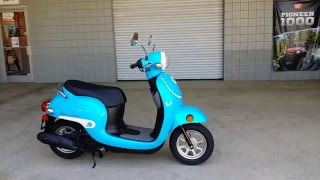 8. 2016 Honda Metropolitan 50cc Scooter / Blue | Walk-Around Video | Review at HondaProKevin.com
