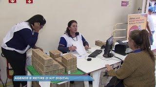 Moradores de Botucatu e região retiram kit gratuito da TV Digital