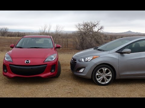 2013 Mazda3 vs Hyundai Elantra GT 0-60 MPH Performance Mashup Review