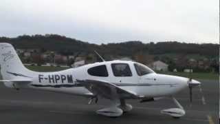 SR20 Cirrus : Glass Cockpit Take Off LFCI (1080p HD)