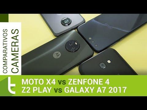 Moto X4, Zenfone 4, Galaxy A7 2017 e Z2 Play  Comparativo de câmeras do TudoCelular