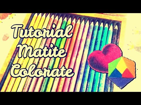come colorare con le matite colorate - tutorial di disegno