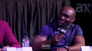 Video Tyron Woodley, Kamaru Usman Have Heated, Lengthy Exchange at UFC 235 Press Conference MP3, 3GP, MP4, WEBM, AVI, FLV Februari 2019