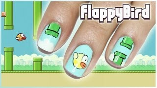 Tutorial Nail Art Flappy Bird Yang Super Gemesin