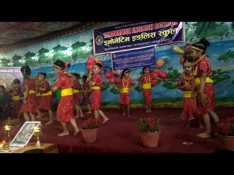 (School program by kids on Chaubandi ma Patuki song - Duration: 5 minutes, 8 seconds.)