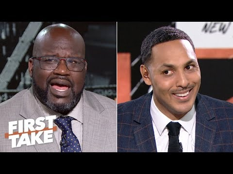 Shaq in shock after Hollins says neither Kobe nor MJ can fill LeBron's shoes | First Take
