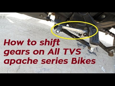 How To Shift Gears On Motorcycle like TVS Apache RTR 160 | 180 | 200 4V | India