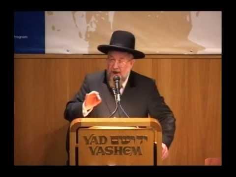 הרב לאו נושא דברים ביד ושם על שימור המורשת היהודית