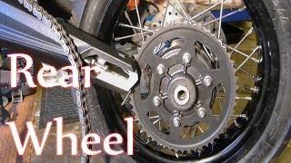 8. Tiger 800 -  Rear wheel Removal + Re-fit