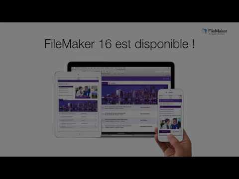 Découvrez FileMaker 16