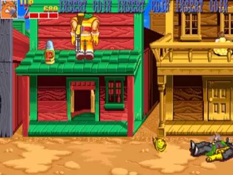 Wild West C.O.W.-Boys of Moo Mesa  MAME Gameplay video Snapshot -Rom name moomesa-