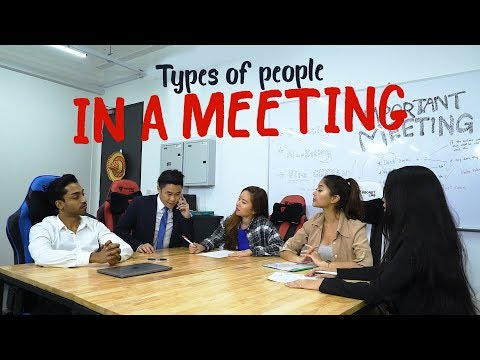 Types of People In A Meeting