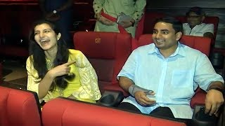 Video సినిమా థియేటర్ లో నారా బ్రహ్మణీ, లోకేష్..Nara Lokesh and His Wife Brahmani Watching Ntr Biopic   BM MP3, 3GP, MP4, WEBM, AVI, FLV Maret 2019