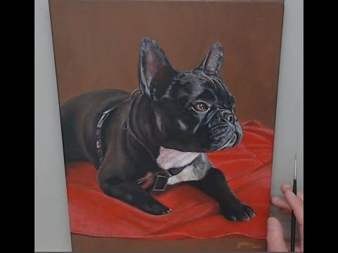 "Time-Lapse Video ""Potrait - Pet"" Acrylic Painting"