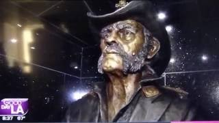 The centerpiece of this week of Lemmy Kilmister tributes in Los Angeles took place Wednesday night (Aug. 24) in Los Angeles, as the friends and family of the late Motorhead frontman joined fans both local and those who traveled for this special occasion just to see the brand new statue of Kilmister unveiled at his favorite L.A. hangout, the Rainbow Bar & Grill.