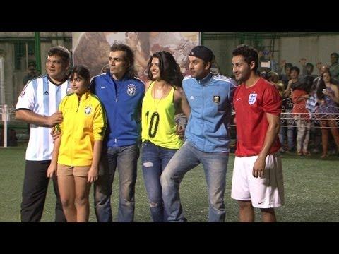 Football Match Between Ranbir Kapoor And Armaan Jain For Promoting Lekar Hum Deewana Dil