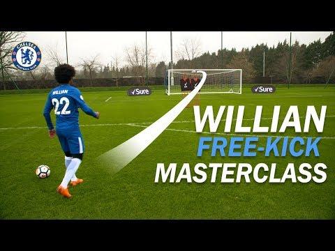 #Willian's Free-Kick Masterclass!   How To Take the PERFECT #Free-Kick with Sure
