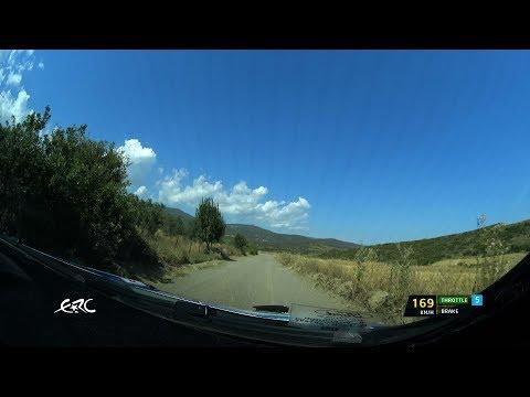 EKO Acropolis Rally 2018 - Habaj OBC on Qualifying Stage with data