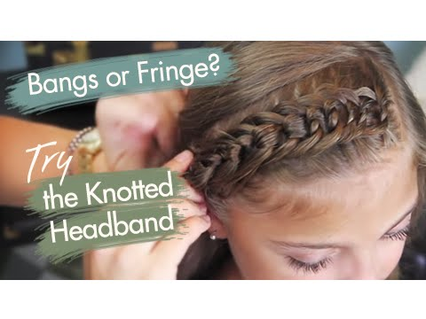 The Knotted Headband Bangs or Fringe