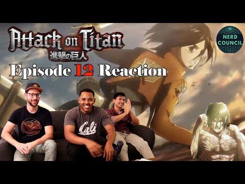 Will Eren Wake Up?! - Attack on Titan Season 1 Episode 12 - REACTION
