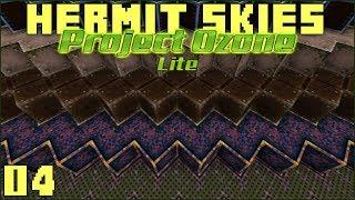 Hermit Skies 04 Base Construction Starts! (Project Ozone Lite Skyblock Modded Minecraft)
