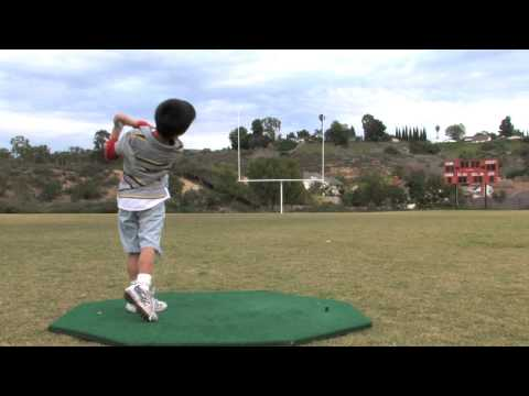 Golf Drills  Free Golf Lesson Kids Hit Golf Balls Through Field Goal