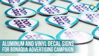 Sign production and installation-aluminum and vinyl decal signs