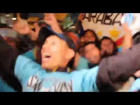 Hinchada de Sporting Cristal celebrando - Extremo Celeste - Sporting Cristal