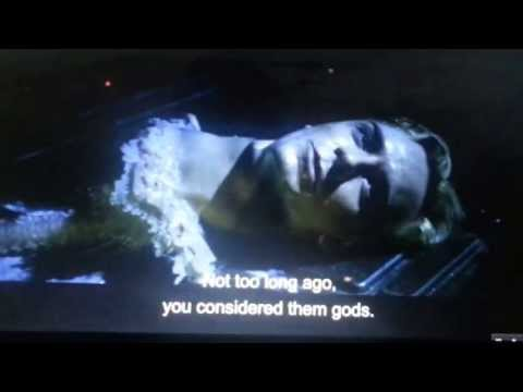 Prometheus - Shaw and david's alternate scene where David reveals what the Engineer said and about