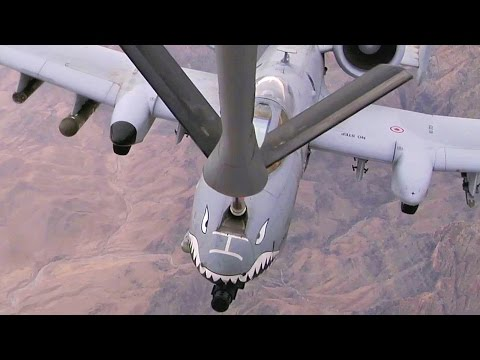 Footage of a KC-135 crew deployed...