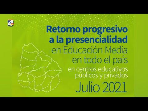 El lunes 12 se comenzará a completar el regreso a la presencialidad en la Educación Media