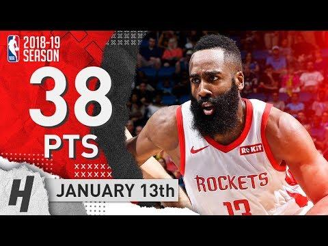 James Harden Full Highlights Rockets vs Magic 2019.01.13 - 38 Pts, 12 Ast, 9 Reb