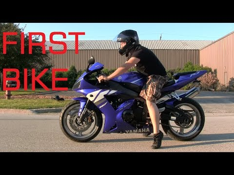 Yamaha R1 As a First Bike - Short Man Learning How To Ride His First Motorcycle Yamaha YZF-R1