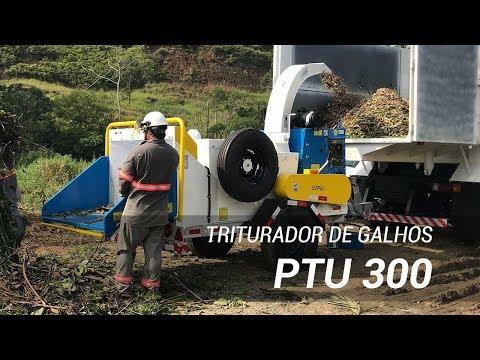 Triturador de galhos PTU 300 sendo utilizado por prestador de serviços - Lippel