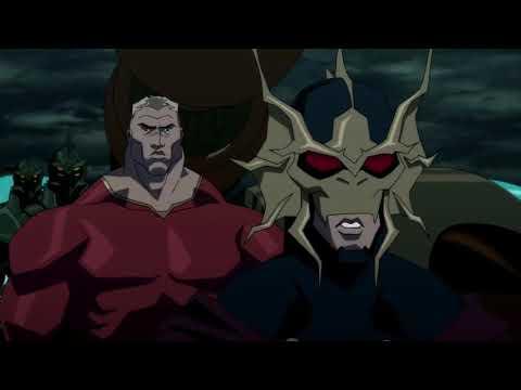 Quinn of amazon vs king of atlantis battle scene