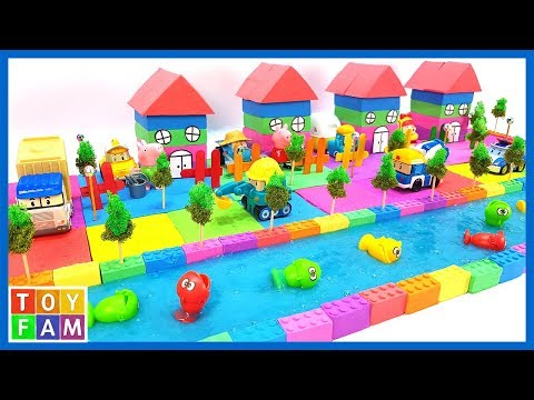 Learn Color How to Build 4 House From Kinetic Sand, Mad Mattr, Slime, Tree Model. | ToyFAM
