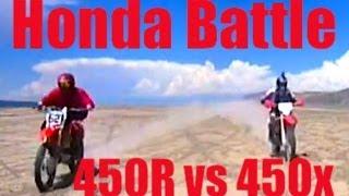 9. Honda CRF450R vs Honda CRF450X. Race!!