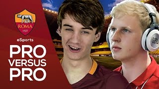 In our first episode of this new eSports series, Roma's Poacher takes on professional FIFA player Megabit in the first leg of a best of three…► Follow Roma eSports on Twitter: https://twitter.com/RomaeSportsSubscribe to AS Roma on YouTube: http://bit.ly/ASRoma_Subscribe to Roma Poacher on YouTube: http://bit.ly/2rrk15rWelcome to the official Youtube channel of AS Roma.Roma Network is the destination for Giallorossi, lifestyle and entertainment.Il canale ufficiale Youtube dell'AS Roma.Roma Network è il mondo dell'intrattenimento e del lifestyle per i tifosi giallorossi di tutto il mondo.Facebook: https://www.facebook.com/officialasromaGoogle+: https://plus.google.com/u/1/+asroma/Instagram: https://instagram.com/officialasroma/Twitter: https://twitter.com/OfficialASRoma