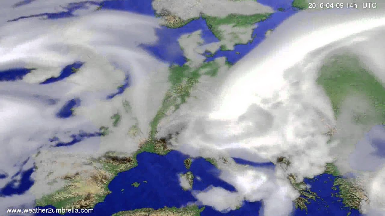 Cloud forecast Europe 2016-04-05