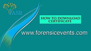 Download Certificate for this Event
