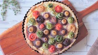 Veggie rose tart