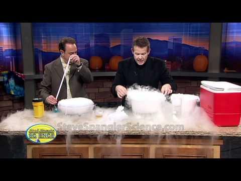 Trockeneis Kristallblasen- Coole wissenschaftliche  Experimente