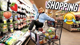 grocery shopping with alisha!! vlogmas day 9 by Alisha Marie Vlogs