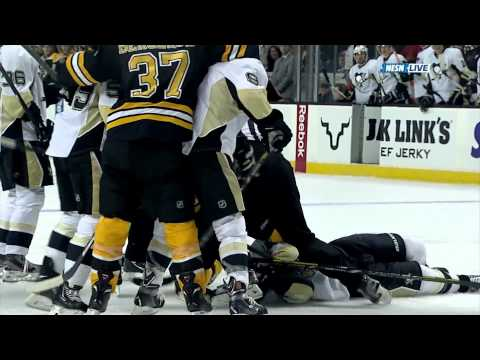 ko - Several incidents and cheap shots in the Bruins-Penguins game on December 7, 2013. Brooks Orpik's dirty hit on Loui Eriksson 0:00 Milan Lucic fights Deryk En...