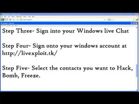 tony43709 - How to hack,Freeze,Bomb,Lock WindowsLive Accounts! Made by omfgxjared! Comment!