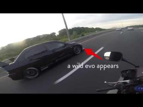 RACE: 700HP Evo vs CBR600RR !!! TOO MUCH POWER? (видео)