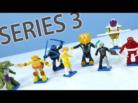 Teenage Mutant Ninja Turtles MEGA BLOKS Minifigures Series 3 Mystery Codes