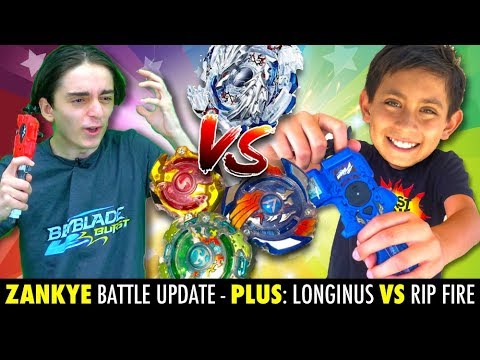 Beyblade Battle! Longinus Vs Hasbro Rip Fire! Zankye Vs Blast Zone Kid Battle News!