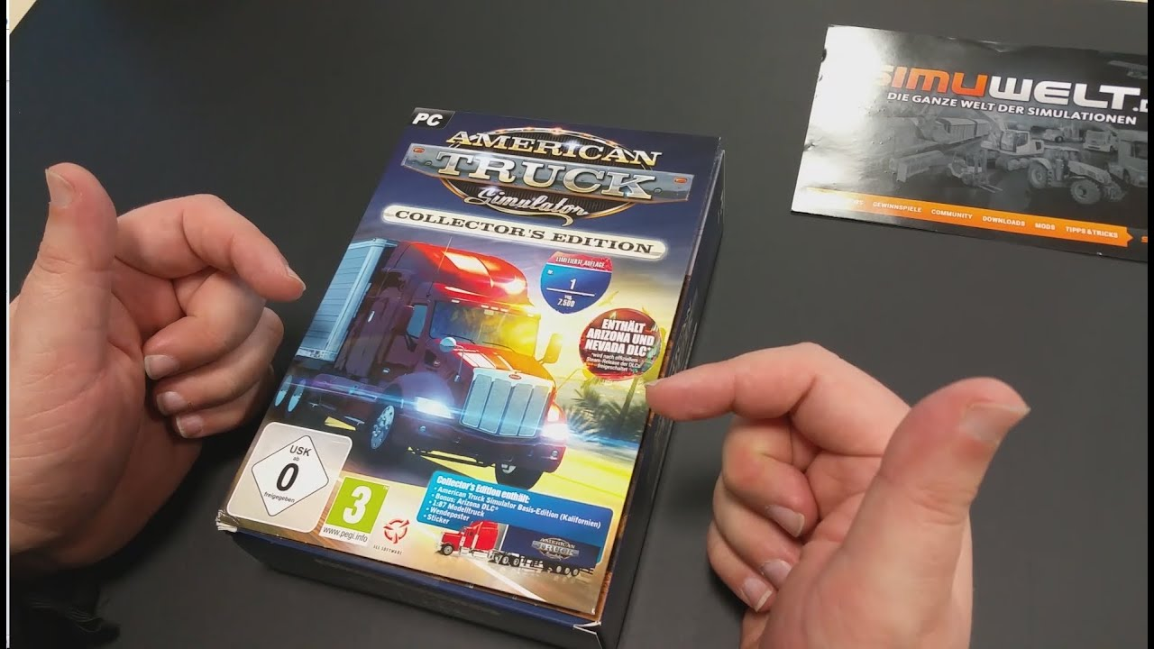 simuwelt Unboxing American Truck Simulator Collector´s Edition